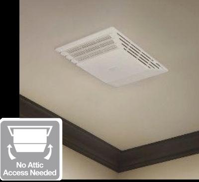 Roomside bath fans