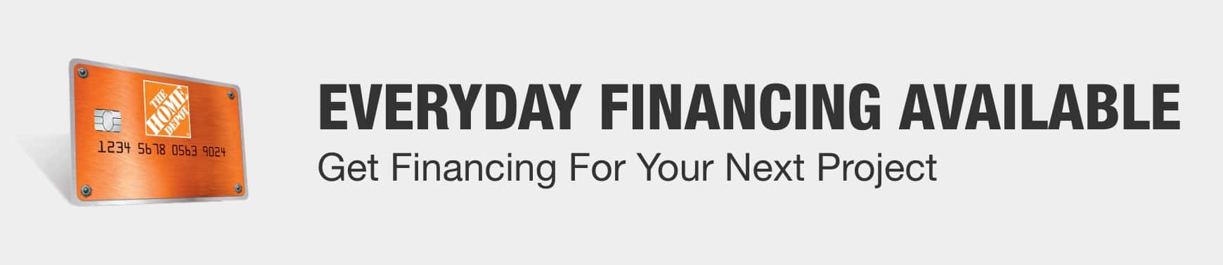 Everyday Financing Available