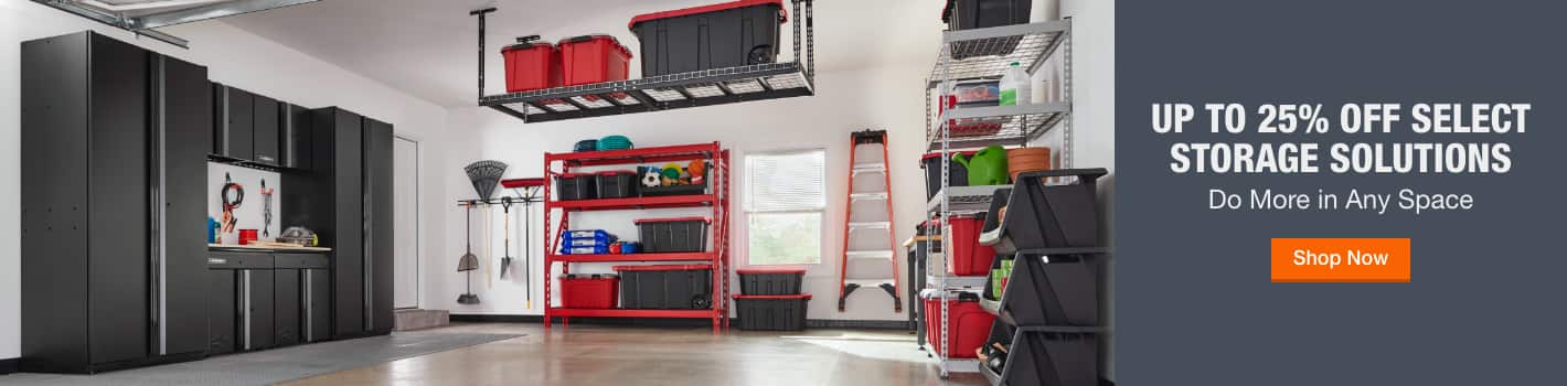 Up to 25% off Select Storage Solutions