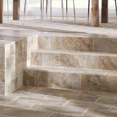 Stone look bathroom flooring tile