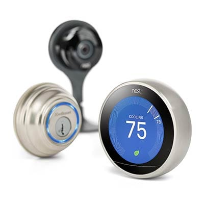 Smart Thermostat, Smart lock and Smart Camera