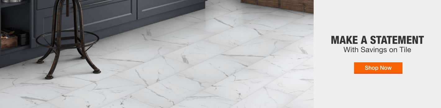 MAKE A STATEMENT with savings on tile shop now