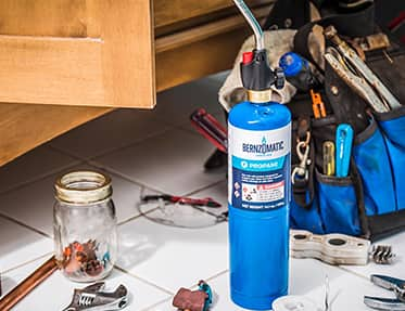 Soldering torches are typically used for precision work and are often powered by butane tanks