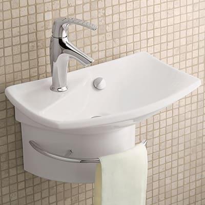 Wall mounted sinks