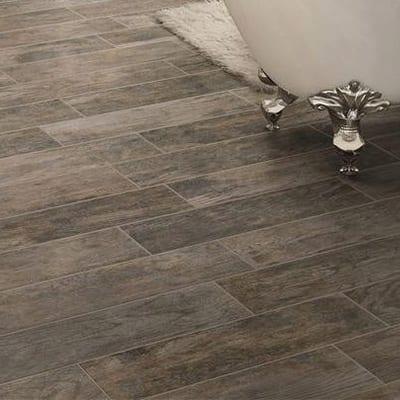 Wood look flooring tile